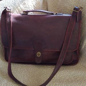 Vintage Coach leather briefcase/portfolio bag
